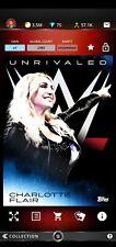 Topps WWE SLAM Digital 2019 Unrivaled Blue Base Award Charlotte Flair 2,383CC