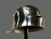 German Sallet Helmet - re-enactment / larp / role-play / fanc+ FREE HELMET STAND