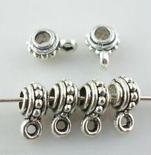 40pcs Tibetan silver Jewelry Making Bead Connectors Bail Pendant 4*6.5*9mm