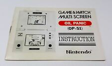 NINTENDO GAME & WATCH OIL PANIC MULTI SCREEN INSTRUCTION RARE HANDHELD LCD