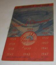 1947 25th ANNIVERSARY YANKEE STAIUM NEW YORK YANKEES OFFICIAL PROGRAM CLEVELAND