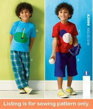 New listing SEWING PATTERN Sew Boy Clothes Tee Shirt T-Shirt Pants Shorts Golf Baseball 3999