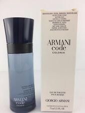 Armani Code COLONIA Giorgio Armani Men Cologne Spray 2.5 OZ 75 ML NEW TESTR  BOX 2ad0d9d5ca045