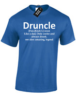 DRUNCLE MENS T-SHIRT FUNNY DRUNK UNCLE GIFT FOR HIM JOKE DESIGN GIFT PRESENT