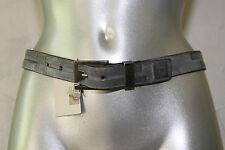 M+F GIRBAUD cinturón cinturón 70 cms azul gris mixto NUEVO CON ETIQUETA valor