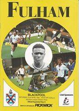 Football Programme - Fulham v Blackpool - Div 3 - 21/4/1990