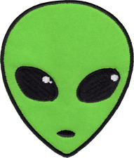 43054 Green Alien Head Martian Extraterrestrial Sci-Fi Outer Space Iron On Patch