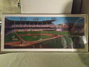 Brooklyn dodgers Lithograph By Jurinko /600 36 x 16 framed