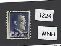 #1224     MNH 1942 stamp 50 Gr + 1ZL / Adolph Hitler / Poland  THICK PAPER