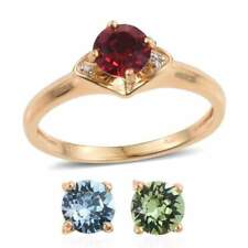 INTERCHANGEABLE YELLOW GOLD ION BRASS RING SIZE 7 W/SWAROVSKI CRYSTALS CODE