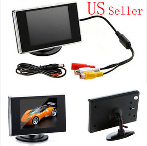 """Mini 3.5"""" TFT LCD Color Screen Car Video Rearview Monitor Camera DVD VCD VCR New"""