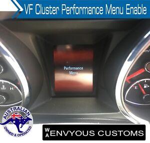 Holden VF Cluster Performance Program Menu Page SSV HSV SS V6 V8 SV6 VE