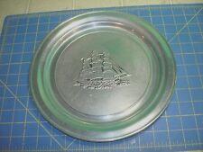 Clipper Ship Plate Vintage Wilton Armetale Pewter Excellent Condition