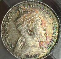 1895-E Ethiopia Silver Coin Gersh PCGS MS64