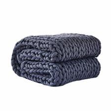 Dreamz Knitted Weighted Blanket Dark Grey