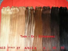 50 grammi MATASSA TESSITURA REMY HAIR AAA EXTENSION capelli VERI 100%