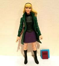HASBRO MARVEL LEGENDS RETRO CARD GWEN STACEY LOOSE WITH BOOK AND BINDER