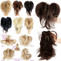 Ponytail no Clip in Natural Hair Extensions Claw On Ponytail Real As Human Hair