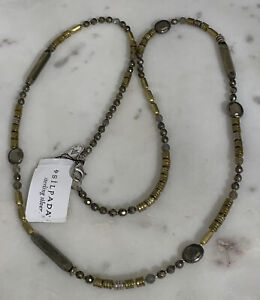 Silpada Show Your Metal Labradorite Pyrite Sterling Brass Necklace N3104