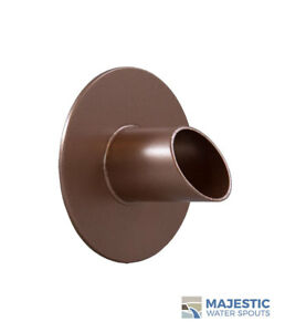 """WAVERLY 1.5"""" ROUND WATER FOUNTAIN SPOUT/SCUPPER - COPPER"""