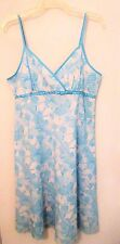 Studio 1940 Ladies Size 12 Teal & White Floral Sundress Nwts