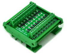 DIN Rail Mount1 Amp 1000V Common Anode 16 Diode Network Module, 1N4007.