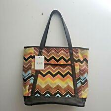 Missoni for Target Colore Zig Zag Chevron  XL Handbag Tote Bag Classic NWT