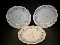 3 JOHANN HAVILAND BLUE GARLAND DINNER PLATES  10 1/4''