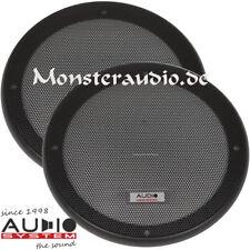 Audio System Lautsprecher Schutzgitter 16,5cm Boxen Gitter paar 165mm schwarz