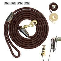 3/5/10/20M Long Dog Lead Horse Rein Training Tracking Lunge Obedience Rope Leash