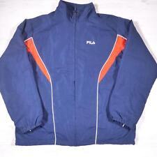 FILA Vintage 1990's Blue Retro Polyester Tracksuit Top Jacket Large #B2372
