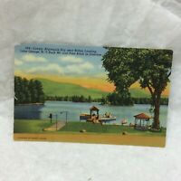 Vintage Postcard Algonquin Bay Scene Lake George New York Unused Bolton Landing