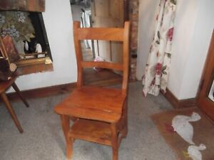 Oak Chair Step Ladder (interchangeable)