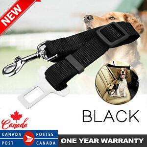 Adjustable Nylon Dog Car Safety Seat Belt Pet Harness Restraint Lead Leash Clip
