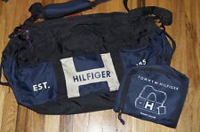 New Authentic Tommy Hilfiger Large Duffle Bag Canvas and Water Resistant Blue