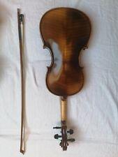 Old Violin Alte Geige mit Zettel Spielbereit