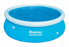 BESTWAY 12 FT OUTDOOR EASY FAST SET SOLAR SWIMMING POOL COVER GARDEN SUN HEAT