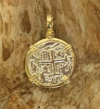 ATOCHA Coin Pendant GP over 925 Sterling Silver Sunken Treasure Jewelry