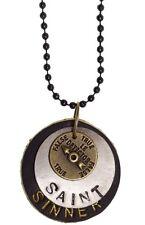 """Se7en Deadly """"Saint or Sinner"""" Necklace Vintage Kustom Kulture Goth Pinup"""