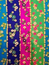 Vintage Hakusan Alexander Henry Fabric BThY Teal pink Green Navy