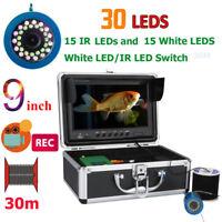 "9""DVR 30M 1000TVL Fish Finder Underwater Fishing Camera 15pcs White LED+15pcs IR"