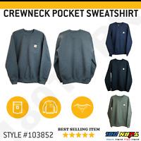 Carhartt Men's Crewneck Pocket Sweatshirt Warm Super Soft Fleece Lined #103852