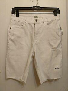 Old Navy New Sz 2 Bermuda Shorts white distressed (b6)