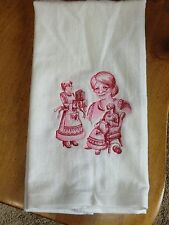 Embroidered Velour Hand Towel - Christmas - Mrs Claus Sketch