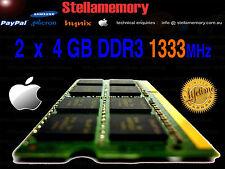 Apple 2010 2011 iMac Macbook Pro Memory 8GB 2 x 4GB DDR3 1333MHz Ram 204 pin