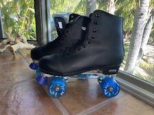 Chicago Men's Classic Roller Skates - Premium Black Quad Rink Skates - Size 13