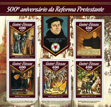 Guinea-Bissau 2017 MNH Martin Luther Reformation 500th Anniv 5v M/S Stamps
