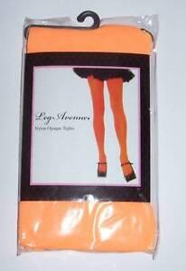 LEG AVENUE Nylon Opaque Tights - Orange OSFM 90-160 lb