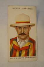 1908 Vintage Wills Cricket Card - R.E. Foster - Worcestershire.
