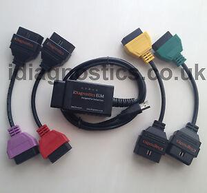 Fiat Alfa ELM OBD2 cable adapter for Diagnostics MULTIECUSCAN FIATECUSCAN